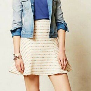 Anthropologie Maeve Embroidered Striped Skirt 4